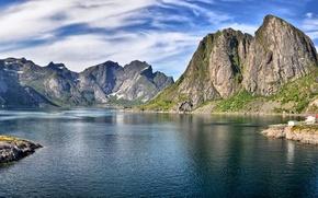 Picture lake, rocks, beauty, beautiful, lake, rocks