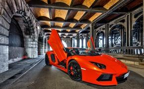 Picture Auto, Lamborghini, Tuning, Machine, The tunnel, LP700-4, Aventador