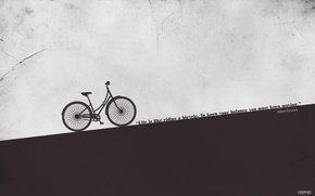 Picture bike, art, bicycle, the phrase