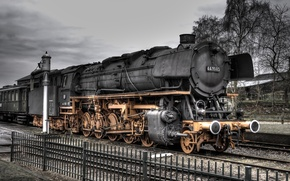 Wallpaper Locomotive, road, iron