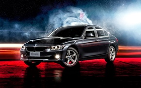 Picture BMW, black, 3 Series, 320i