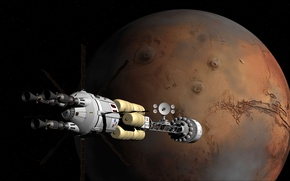 Picture space, rendering, fiction, space, NASA, fantastic, Mars, namber One