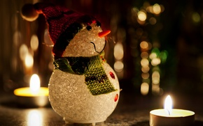 Picture holiday, christmas, Snowman