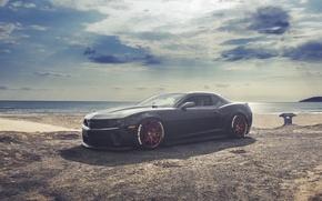 Picture Chevrolet, Camaro, Red, Black, Wheels