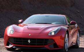 Picture Ferrari, front view, berlinetta, F12, the ferrari f12