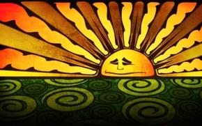 Picture figure, color, The sun