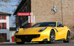 Picture Ferrari, yellow, 2016, F12tdf