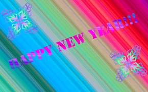 Picture snowflakes, gradient, Happy New Year, congratulations