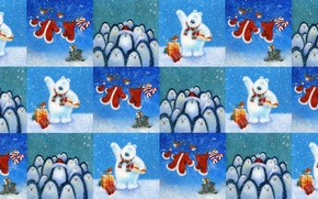 Picture winter, background, holiday, texture, New year, children's