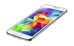 Picture white, smartphone, thin, Galaxy S5