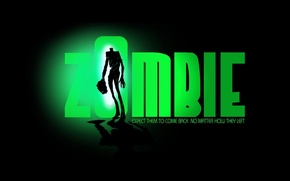 Wallpaper Zombie, green, zombies