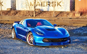 Picture Corvette, Chevrolet, One, Forged, Stingray, Piece, Forgeline, on, C7