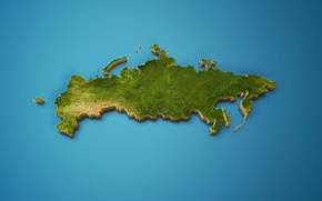 Wallpaper map, Russia, country