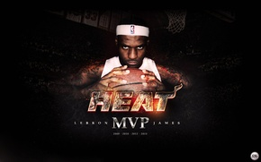 Picture The ball, Sport, Basketball, Background, Miami, NBA, LeBron James, Heat