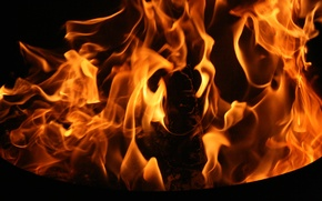 Picture background, fire, flame, Wallpaper, the evening, the fire, different