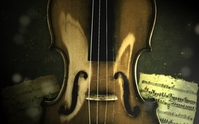 Picture notes, music, violin, strings, music, violin