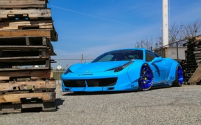 Picture Ferrari, 458, Blue, Italia, Edition, Liberty, Walk