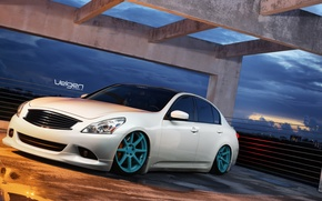 Picture Infiniti, Sedan, G37, VMB8, Velgen, Bagged