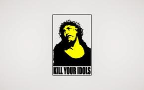 Picture kill, icon, Jesus, idol, minimalism
