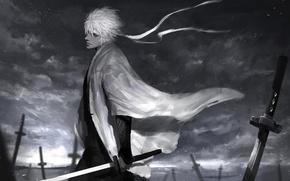 Picture anime, art, guy, Gintama, Gintoki