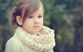 Picture look, portrait, girl, bokeh