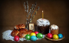 Picture holiday, spring, Easter, still life, composition
