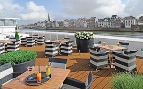 Picture home, restaurant, promenade, terrace, Antwerp