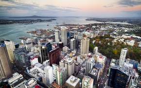 Picture home, panorama, Bay, new Zealand, New Zealand, Auckland, street, quarter