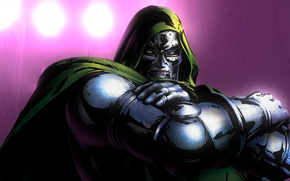 Wallpaper Doctor Doom, Victor fon Doom, iron mask, look, Marvel Comics. Marvel