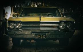Picture retro, muscle car, classic, Oldsmobile 442