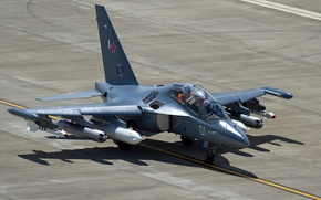 Picture the plane, the airfield, The Yak-130, combat training, Yak-130
