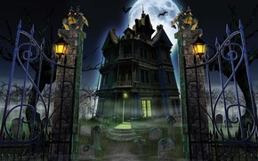 Wallpaper halloween, Halloween, castle