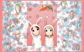 Picture carrot, hood, ears, art, friend, ichigo mashimaro, chika itoh, barasui, strawberry marshmallow, ana coppola
