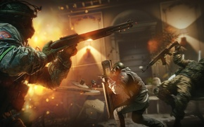 Picture police, shotgun, special forces, shooting, tom clancy's rainbow six siege