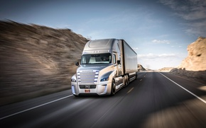 Picture speed, track, Truck, Freightliner, Daimler, Inspiration