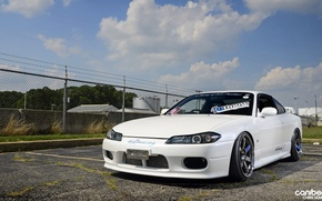 Picture nissan, white, japan, jdm, tuning, silvia, s15, low, nismo, stance, datsun