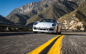 Picture car, machine, 911, Porsche, convertible, road, speed, Cabriolet, Carrera 4 GTS