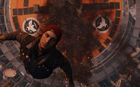 Wallpaper Smoke, The rise, Hat, Infamous Second Son, Delsin Rowe, Delsin Rowe