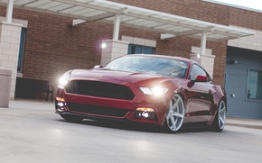 Picture Ford, mustang, light, red, new, 2015