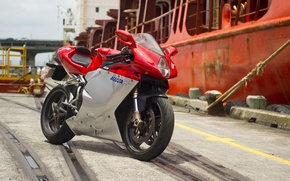 Picture red, motorcycle, red, Supersport, MV Agusta, MV Agusta