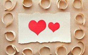 Picture love, red, paper, background, Wallpaper, mood, heart, wallpaper, red, love, heart, widescreen, background, full screen, …