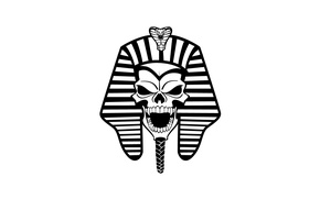 Picture style, skull, Pharaoh, grin