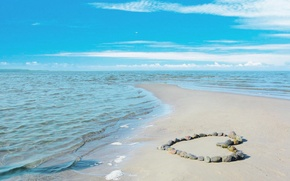 Picture love, beach, sea, coast, water, sun, beauty, sand, romance