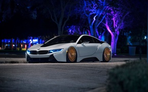 Picture BMW, Front, White, Custom, Low, Wheels, Ligth, Rotiform