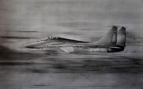 Picture figure, fighter, pencil, multipurpose, MiG-29, The MiG-29