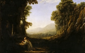 Picture picture, Claude Lorrain, Landscape with a Monk of the Order of Mercedarian