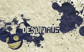 Wallpaper squirt, the inscription, Dedmau5