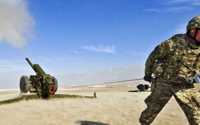 Picture weapons, soldiers, howitzer