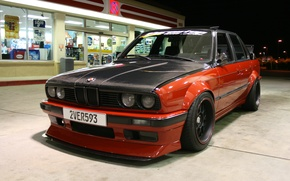 Picture night, dressing, BMW, tuning, the front, red-black