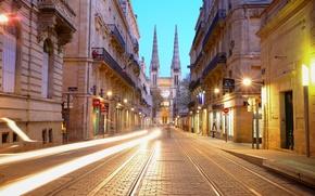 Picture light, France, excerpt, Church, twilight, Bordeaux